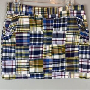 J. Crew plaid patchwork madras mini skirt 4